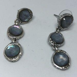 House of Harlow 1960 Blue Crystal Drop Earrings